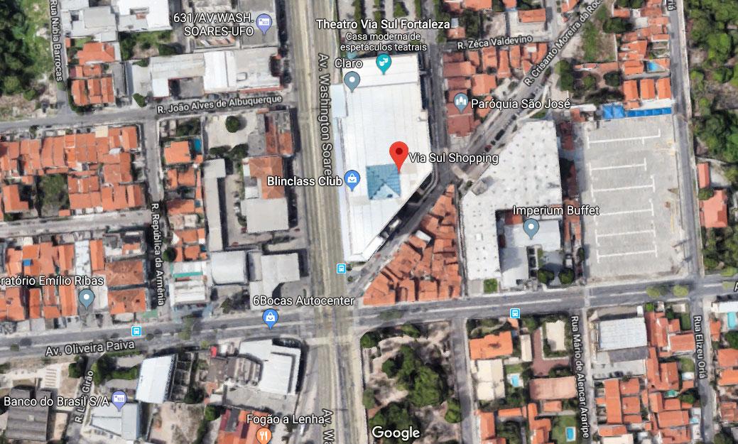 Shopping Via Sul Mapa